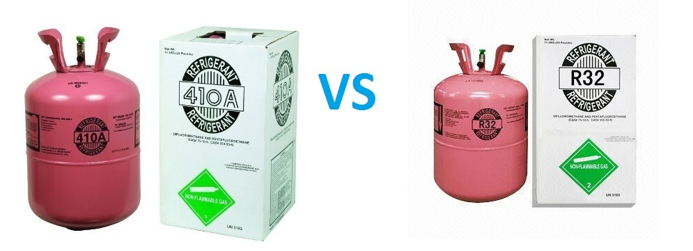 Sự khác biệt giữa môi chất lạnh Gas R32 và R410A